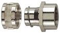 Коннектор с внутренней резьбой, поворотным креплением, никелированная латунь